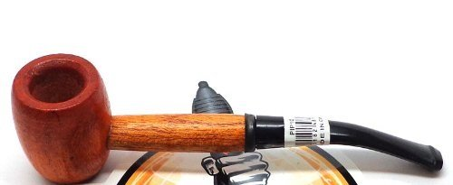 Large Cherry Wood Pipe with Curved Shaft- Tobacco Pipe