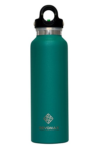 RevoMax Twist Free Insulated Stainless Steel Water Bottle with Standard Mouth, 20 oz, Glacier Cyan