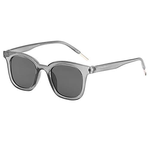 Unisex Eyeglasses Classic Polarized Sunglasses Mirrored Lens Lightweight Oversized Glasses Retro Outdoor Eyewear(Gray)