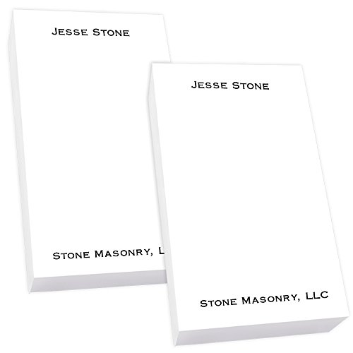 Personalized Office Small Tablet Pair - White