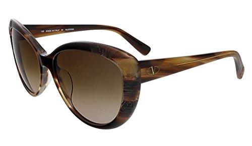 Valentino 617S-261-56 Women's Cat Eye Beige Horn Sunglasses
