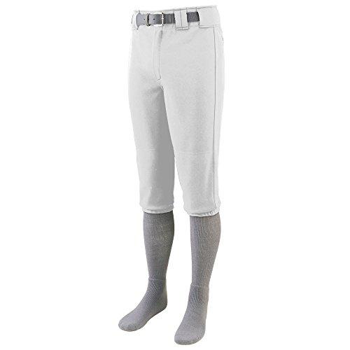 (Augusta Sportswear Boys' Series Knee Length Baseball Pant S White)