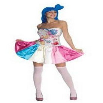 Katy Perry Costumes For Adults (Katy Perry Candy Girl Adult Costume Size)