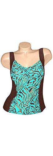 Wior Bra Carol (Carol Wior Bronze Goddess Tankini Top with Underwire Bra NB4732BG (Size 16))