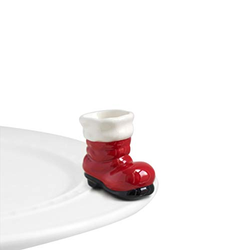 Nora Fleming Hand-Painted Mini: Big Guy's Boots (Santa Boot) A89 ()
