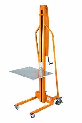 "Wesco 272467 Manual Office Lift, 58-1/2"" Lift Height, 23"" x 18"" Platform, 220 lb. Capacity"