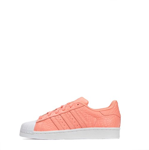 Adidas Originals Superstar Donne Di Scarpe Sneakers Formatori (us 6.5, Corallo Aq2721 Bianco)