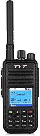 (TYT MD-380 DMR/Analog UHF 400-480MHz 70CM 5-Watt Digital Handheld Transceiver MotoTRBO (TDMA Tier I and Tier II) Portable Ham Two-way Radio (Amateur), Includes Programming Cable & CD)