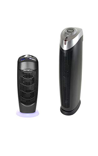 Aurash Black Tower Air Purifier with Remote & Ionic Electrostatic UV Carbon Filter Air Purifier Bundle Pack