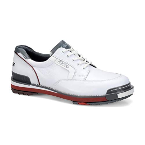 Dexter Men's SST Retro Bowling Shoes, White/Grey/Red, Size 10.5 (Renewed)