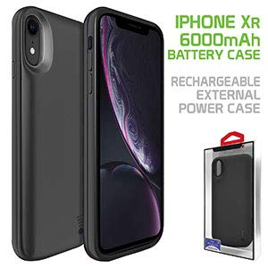 Cellet Rechargeable External Battery Case with 6000mAh Extended Power Compatible for Apple iPhone XR