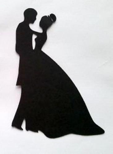 5 x Bride /& Groom Wedding #8 Silhouette Die Cuts Shapes Black Card