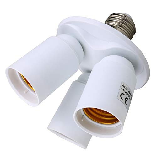 Toplimit 3 in 1 Standard Light Bulb Lamp Socket Adapter Spli