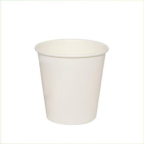 Palucart - 100 vasos de papel para agua, 180 ml, color blanco ...
