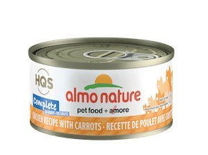 Almo Nature Complete Cat Wet Food w/Mineral and Vitamins Grain Free 24 Cans Per Case 2.47 oz Each (Chicken with Carrot in Gravy)