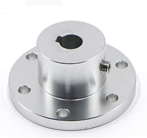 Fange Flange key coupling//internal diameter 8//10//12//14//15//16mm optional//high strength aluminum alloy omnidirectional wheel flange Connection Color : 12mm