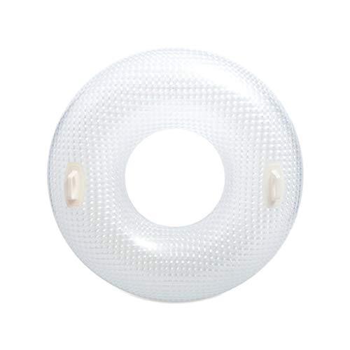 AfazfaAdult Lifebuoy Glass Swimming Ring Underarm Floating Ring Diameter 114CM (White) - Floating Ring Clock