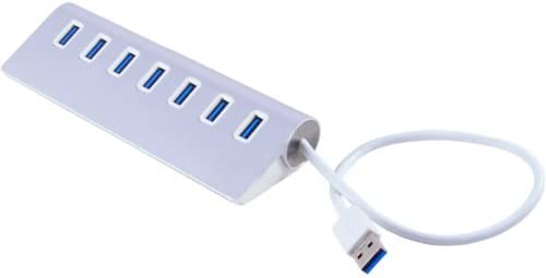 USB Cables Hubs /& Adapters 7-Port Aluminum USB 3.0 Hub 5V//2A Power Adapter for PC Laptop Notebook Desktop