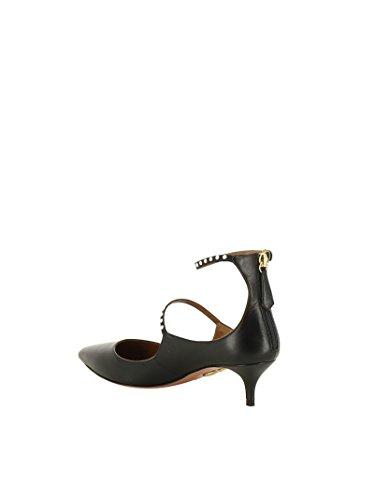 NOLMIDP0NAP000 Talons Cuir Chaussures Noir Femme AQUAZZURA À Bnzw7Pxq