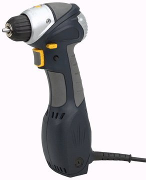 "Chicago Electric Power Tools 3/8"" Close Quarters Drill with Keyless Chuck"