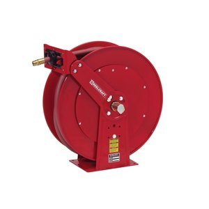 Reelcraft D84050 Olp Heavy Duty Dual Pedestal Hose Reel  1  X 50  250 Psi  Air Water Hose Included