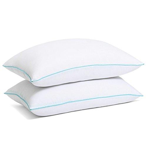 SLEEPY FOLKS Pillow - Pillows for Sleeping - Hypoallergenic Pillow 2 Pack - Queen Standard Bed Pillow Set of 2 - Cool Sleeping Best Pillow - Down Alternative Hotel Pillow - Medium Soft Firm Pillow (Pillow Set Down Alternative)