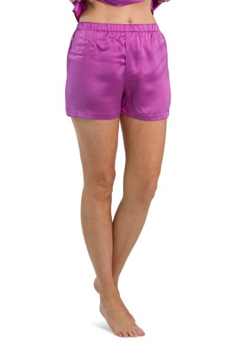 Fishers Finery Women's 100% Mulberry Silk Boxer; Lounge Shorts (Orchid, XS)