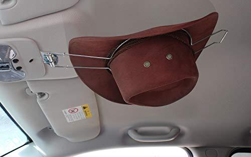 GEEDAR Cowboy Hat Rack for Trunk, Cowboy Hat Holder for Car, Saver Hat Clip for Western Hats Sliver