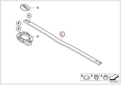BMW Genuine Suspension Strut Brace Bar Front Transverse Element M3