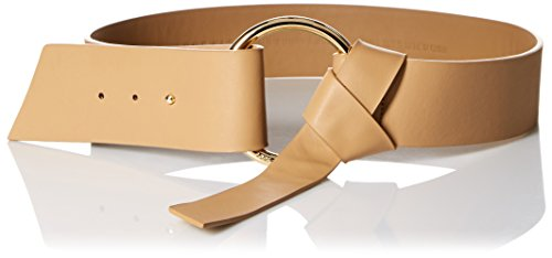 AK Anne Klein Women's Belt with Pull Back Closure, Natural, Large (Anne Klein Leather Belt)