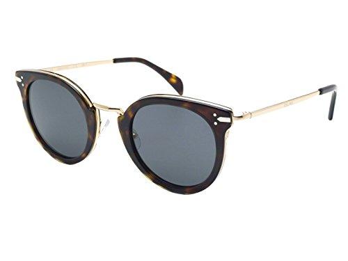 Celine 41373/S ANT Dark Havana 41373/S Round Sunglasses Lens Category 3 Size - Round Sunglasses Celine