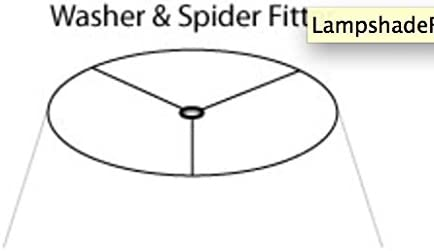 Urbanest Softback Bell Lampshade, Faux Leather, 16-inch Bottom Diameter, 9-inch Height, Spider Fitter