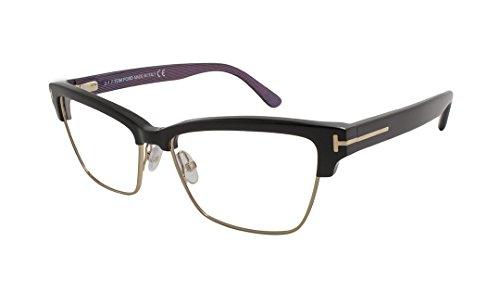 Tom Ford TF5364 Rectangular Eyeglasses FT5364 (005 Black Gold, ()