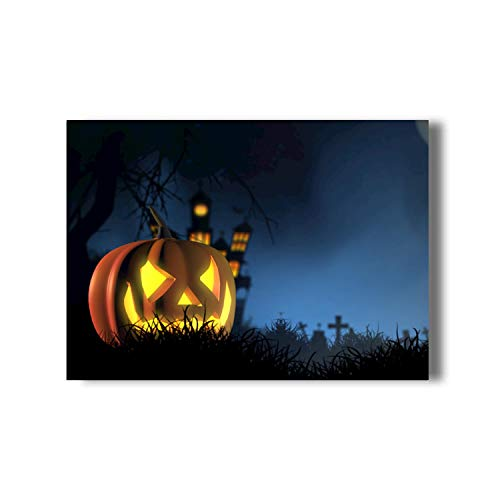 Creative Halloween Pumpkin Lantern Paintings Modern Canvas Prints Artwork Pictures Printed on Canvas Wall Art for Home Family Office Hotel Bar Decorations