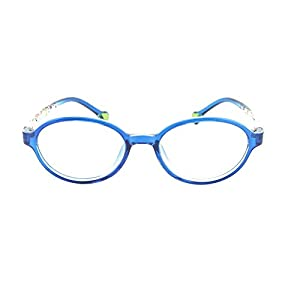 Eye Buy Express Prescription Boys Girls Blue Clear Cool Reading Glasses Childrens Anti Glare Quality +4.50