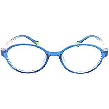 24091fe1fa EyeBuyExpress Prescription Boys Girls Blue Clear Cool Reading Glasses  Childrens Anti Glare Quality +1.00