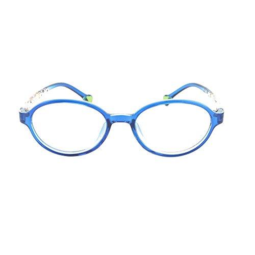EyeBuyExpress Prescription Boys Girls Blue Clear Cool Reading Glasses Childrens Anti Glare Quality +0.50