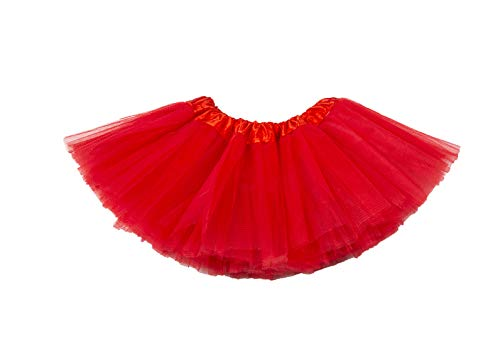 belababy Tutu Skirt for Girls 5 Layers Tulle Tutu 2-8T Red