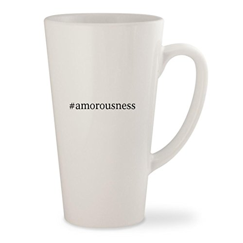 #amorousness - White Hashtag 17oz Ceramic Latte Mug Cup