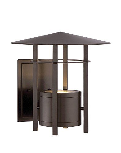 Designers Fountain LED34031-BNB Englewood - 9'' 10.1W 1 LED Outdoor Wall Lantern, Burnished Bronze Finish by Designers Fountain
