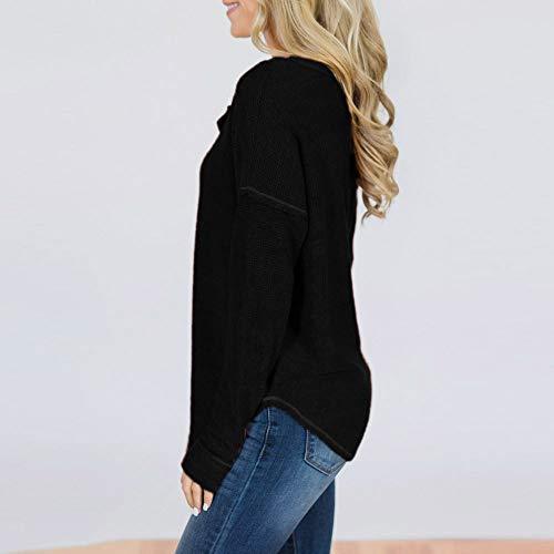 Tops Sexy Grande Tous Chic Manches T Longue Fille Dcontracte Jours 1 Mode en Femmes Shirt Vetements Blouse OVERMAL et Bureau Vrac Noir Haut t Chemise Taille Automne Les qO7IfCw