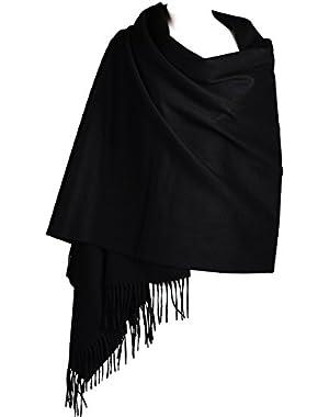 Women Soft Cashmere Wool Wraps Shawls Stole Scarf - Large Size 78