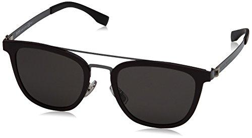 Burgundy Sunglasses Square By Men's Boss Ruthenium B0838s Hugo Gray brown XqY6FYgw