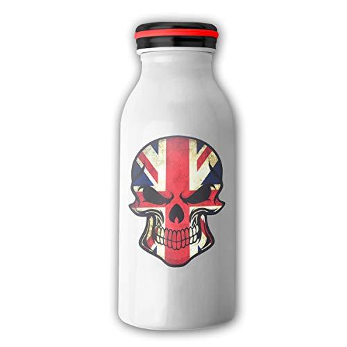 (JXZIZHENG 2017 British UK Flag Sugar Skull Stainless Steel Insulating Travel Mug Water Coffee Milk Cup for)