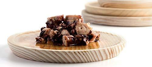 pulpo. Ruibal /Ø 26 cmPino de primera calidad Ideal para comer pulpo a la gallega Set de 6 Platos para Pulpo de Madera