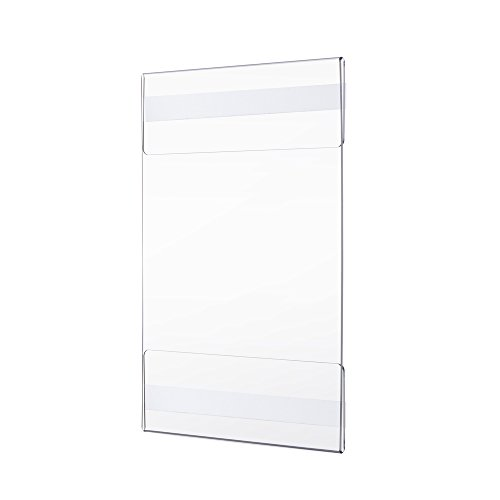 Twing Premium Acrylic Wall Mount Display Sign Holder With