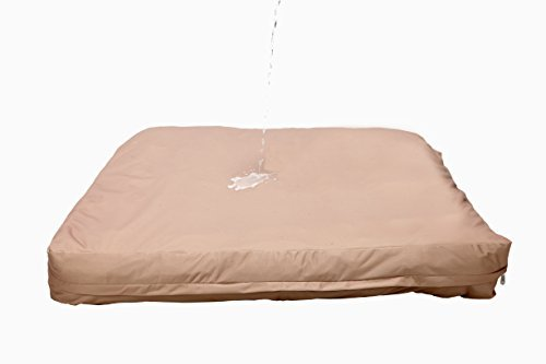 Dog Bed Liner - USA Based - Premium Durable Waterproof Heavy Duty Machine Washable Material with Zipper Opening - 2 Year Warranty - Medium - Tan