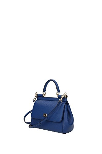 e60f9c08cf Borse a Mano Dolce Gabbana Donna Pelle Blu Marino e Oro BB6003A10018H606  Blu 8x16x20 cm ...