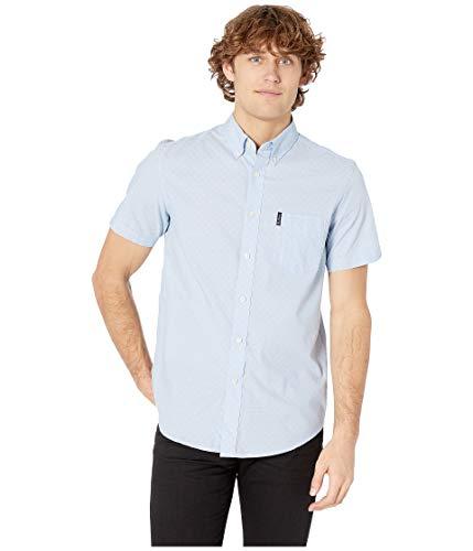 - Ben Sherman Men's SS DOT Shirt, Light Blue XXL
