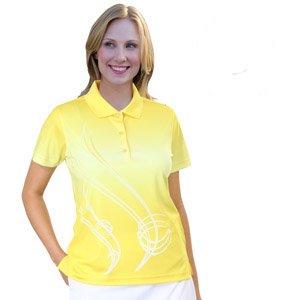 Monterey Club Ladies' Dry Swing Ombre Graphic Print Short Sleeve Shirt #2537